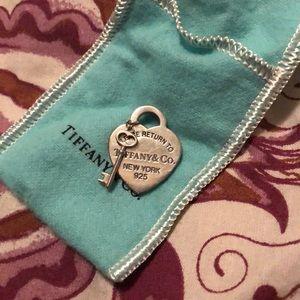 Tiffany & Co original heart tag and key pendant